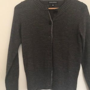 Grey cardigan button up long sleeve